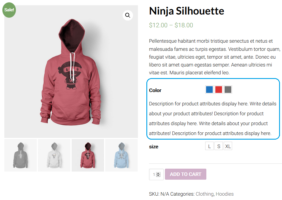 WooCommerce Variation Settings